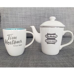 Tim Hortons Coffee/Tea Pot & Mug